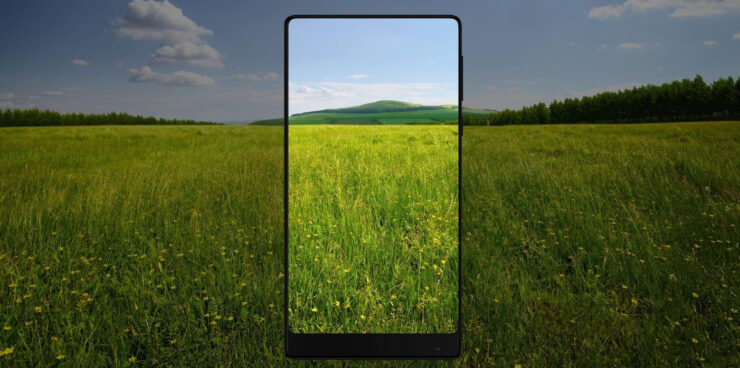 Xiaomi Mi MIX 2 vs Galaxy S8 vs Mi MIX render