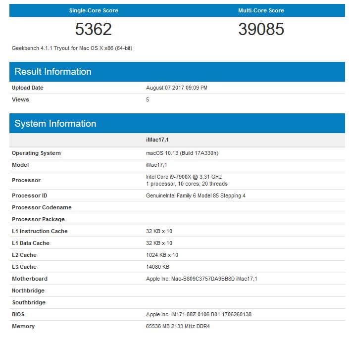 imac-pro-intel-i9-7900x-geekbench-score