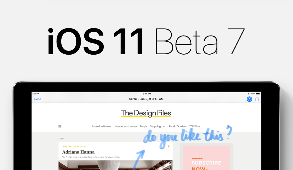 Download: iOS 11 Beta 7 Now Available for iPhone & iPad ...