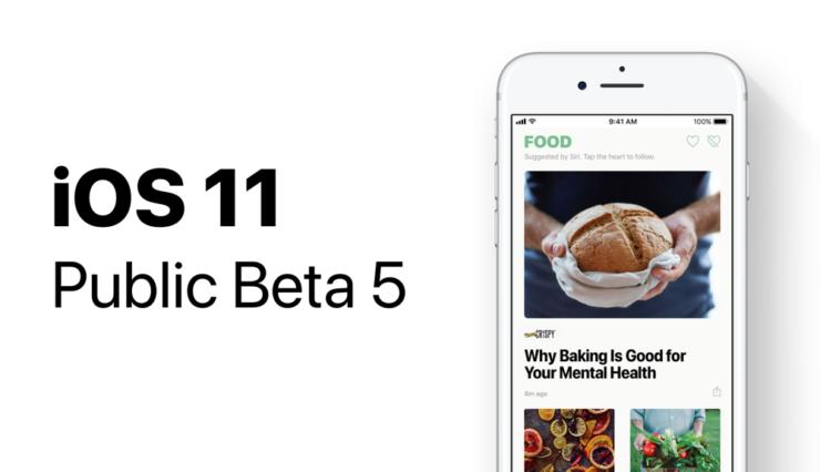 iOS 11 Public Beta 5