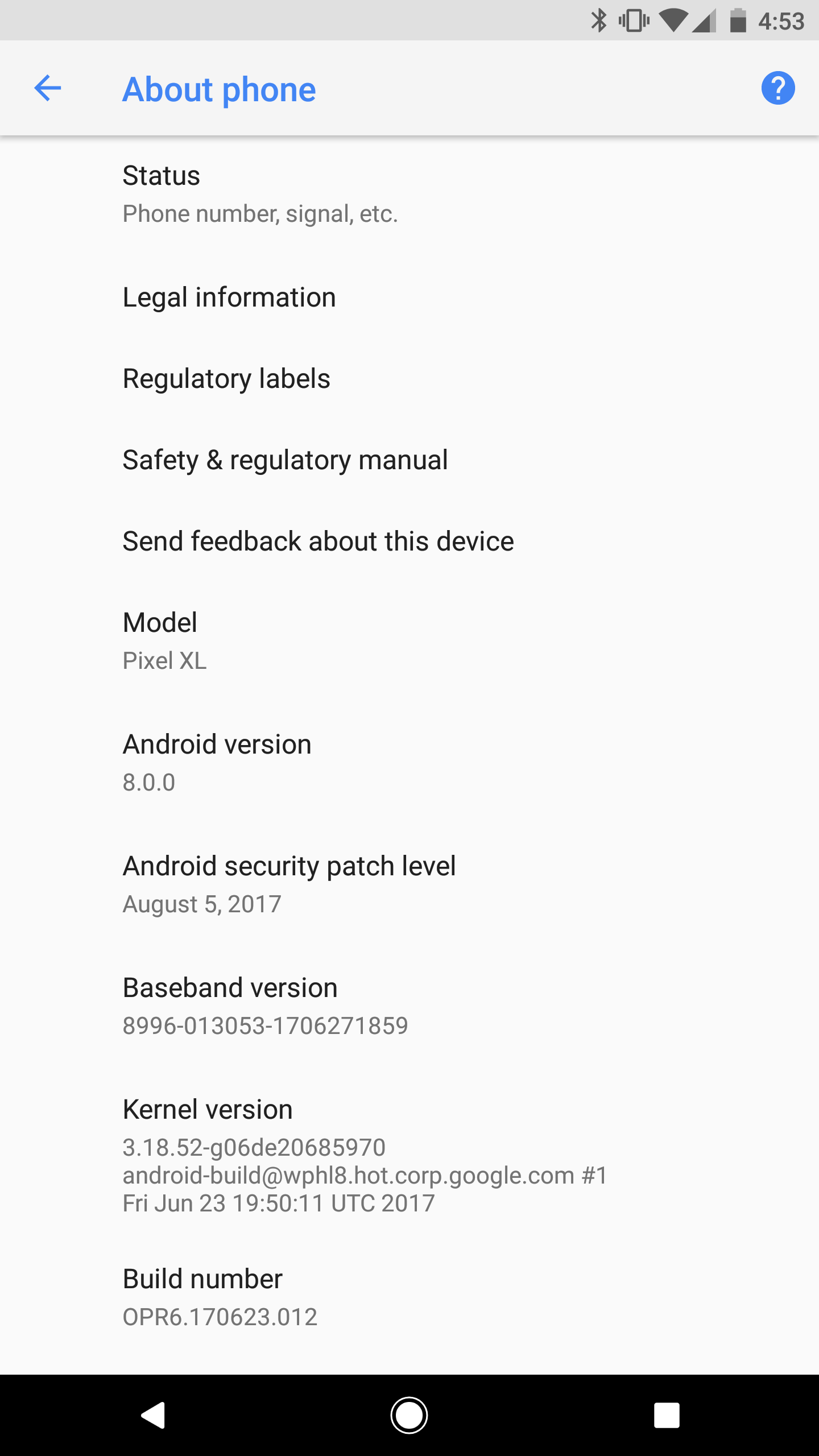 Android Oreo for at&T Pixel xl