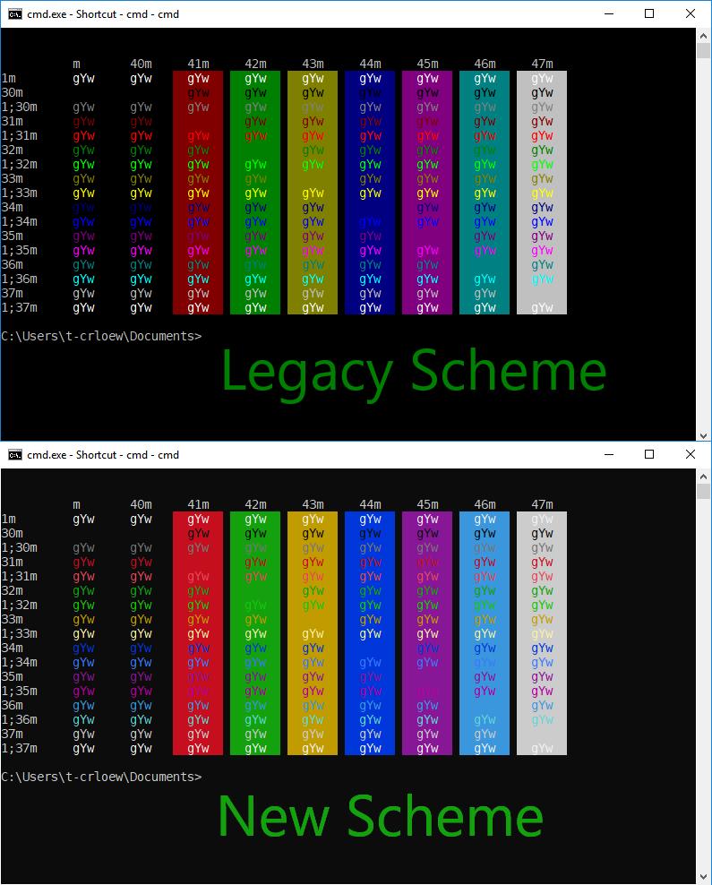 windows console color change