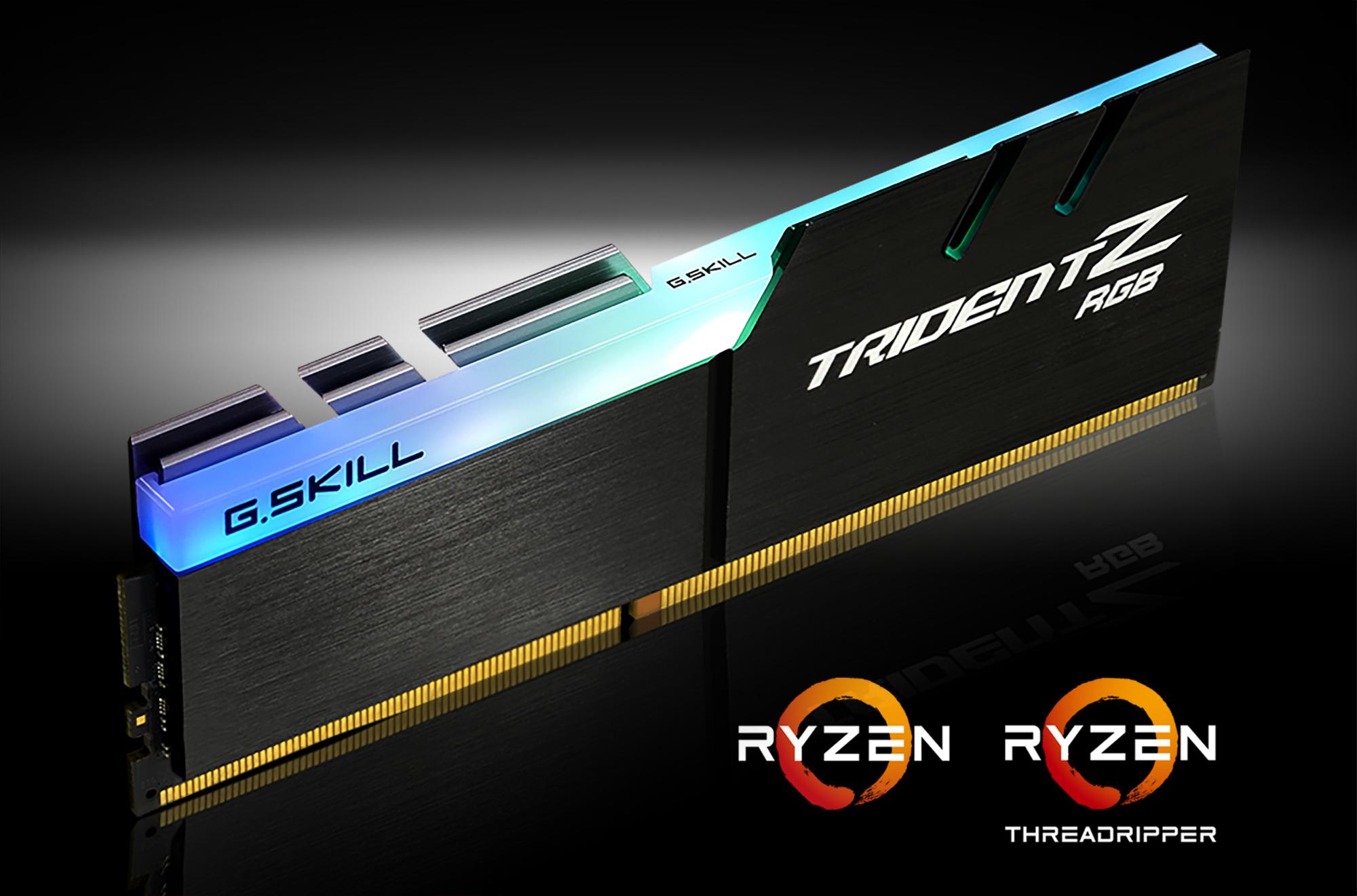 G Skill Unveils AMD Ryzen CPUs Optimized Trident Z RGB DDR4