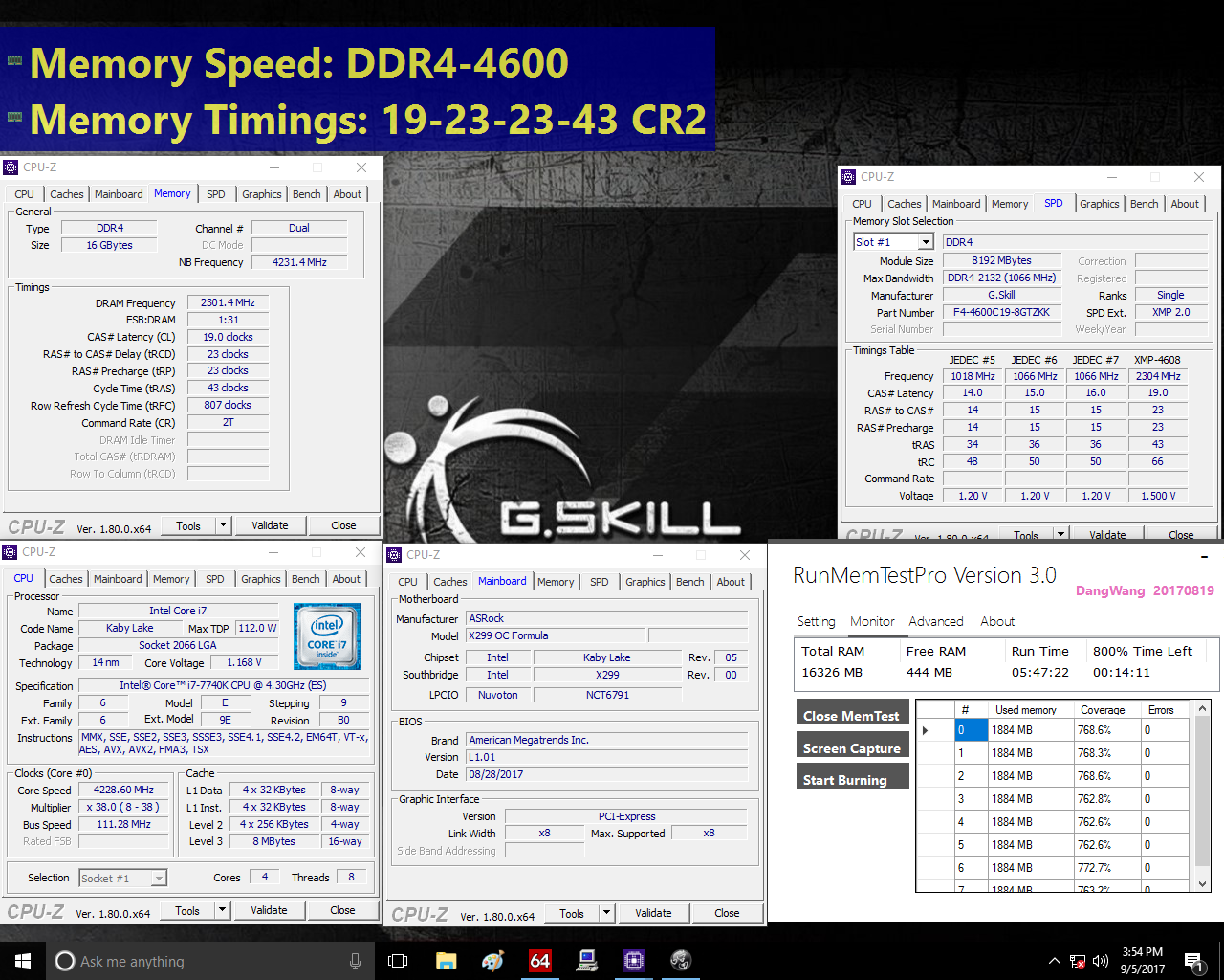 G Skill Unleashes Blistering Fast 4600 MHz DDR4 Trident Z Memory