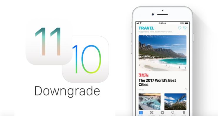 Downgrade iOS 11