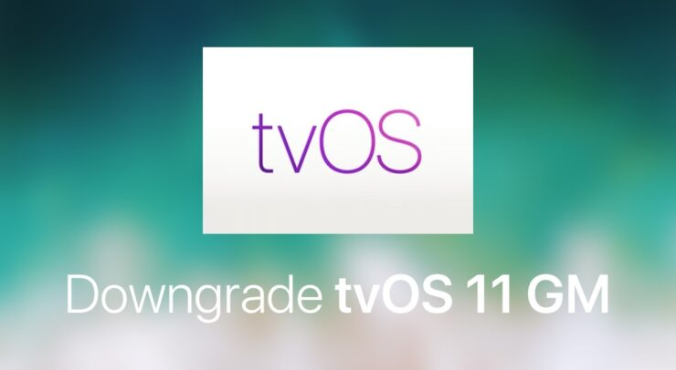Downgrade tvOS 11 GM
