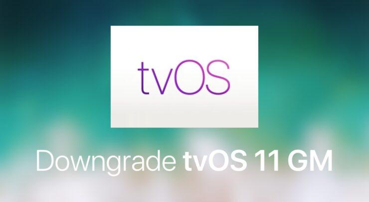 Downgrade tvOS 11 GM
