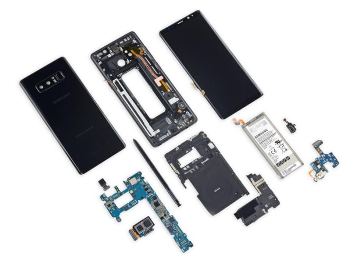 Galaxy Note 8 Teardown Shows it Is Much Easier to Repair Than Other Premium Phones