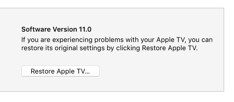 downgrade tvOS 11