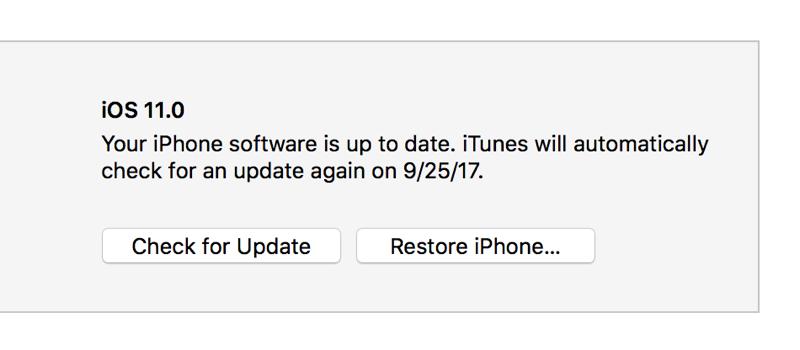 clean install iOS 11