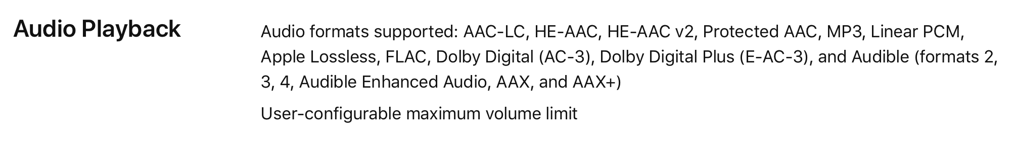 iPhone 8, iPhone X & Apple TV 4K Listed with Support for FLAC