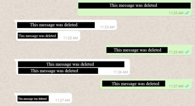 WhatsApp Delete