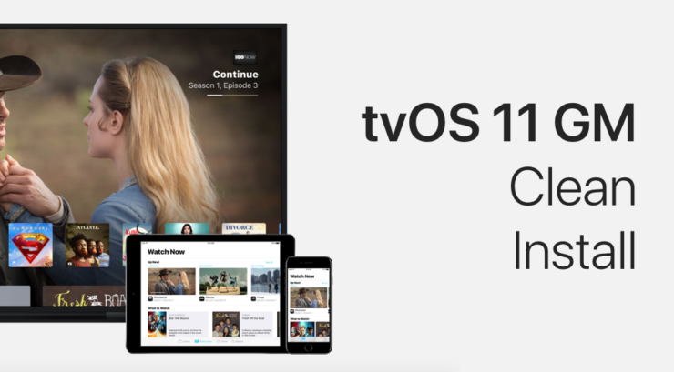 clean install tvOS 11 GM