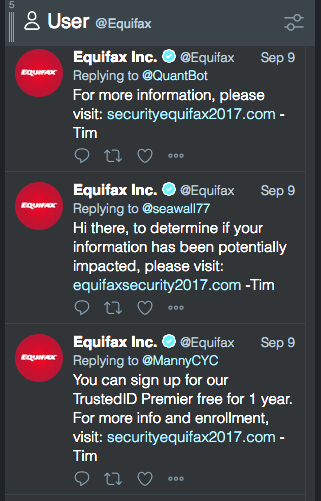 equifax phishing tweet