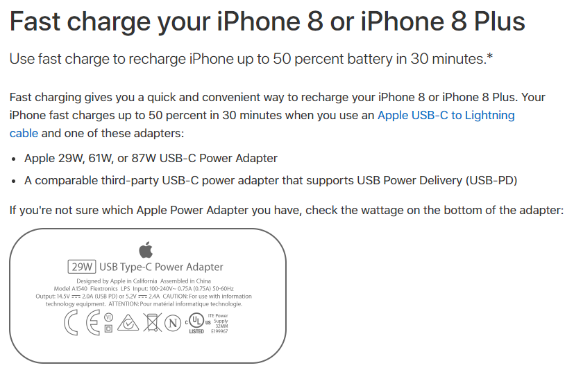 pretty nice fb780 9093c Apple Shares Details on What Fast-Charging Third-Party Chargers Will ...