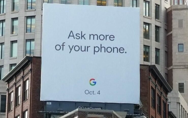 Pixel 2 Billboard; Made for Google
