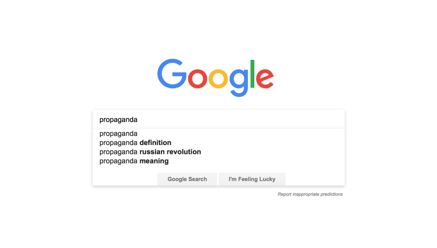 google russia propaganda