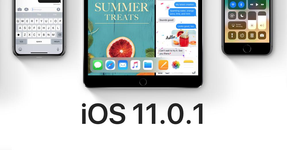 IPSW TÉLÉCHARGER IOS 11.0.1