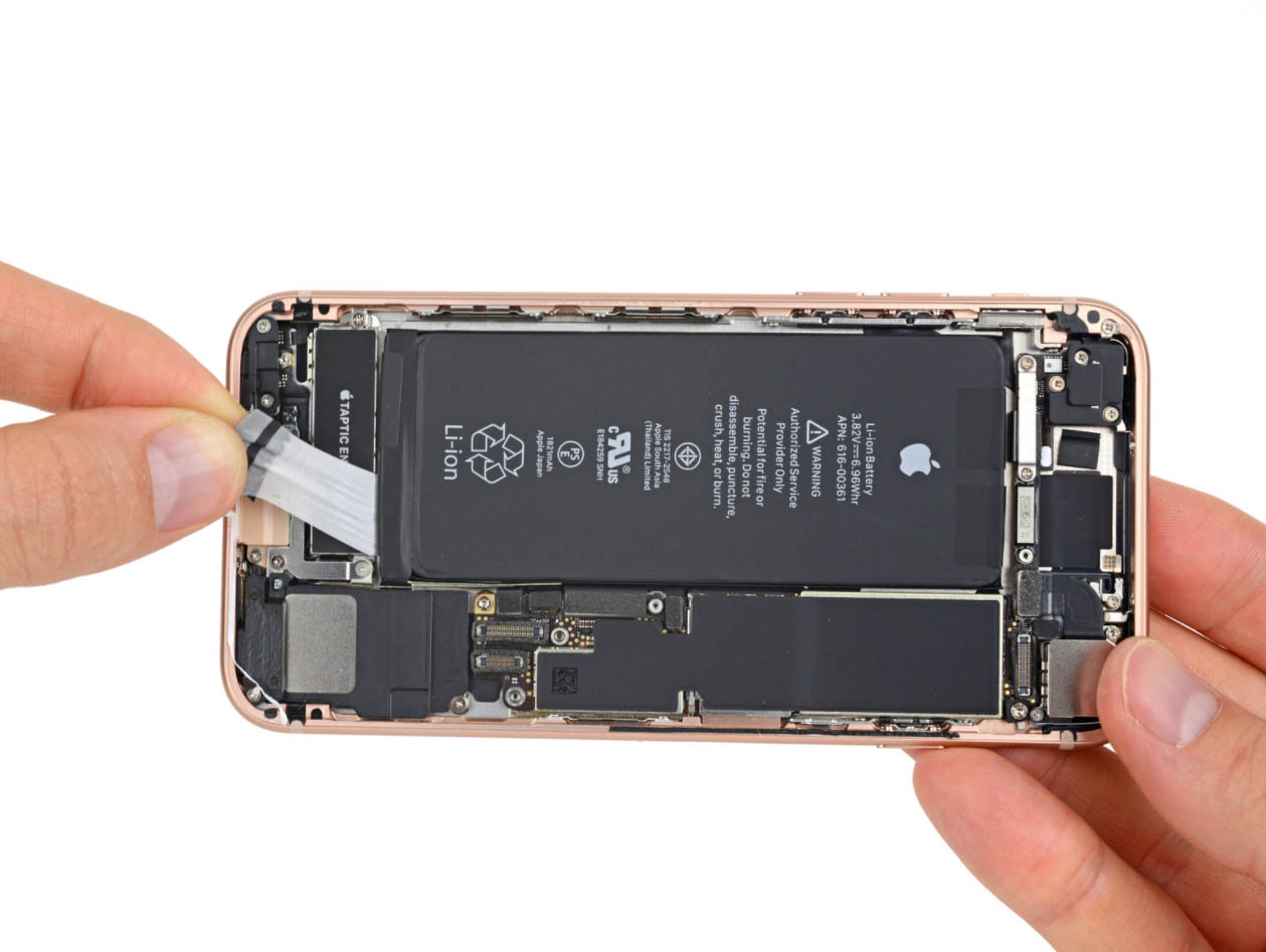 ifixit iphone 5s battery iphone 8 teardown confirms smaller battery but different 1729
