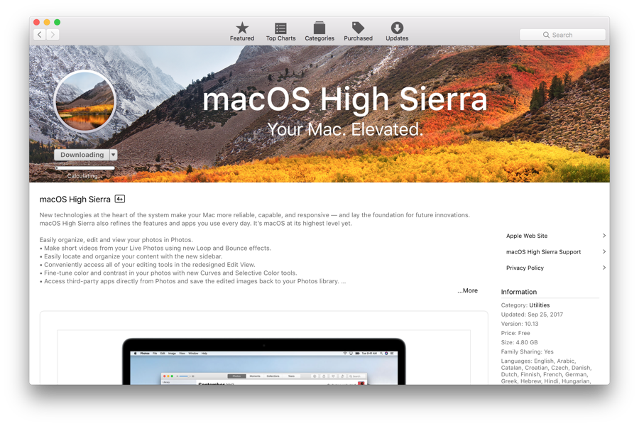 macOS High Sierra USB Installer