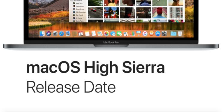 macOS High Sierra release date