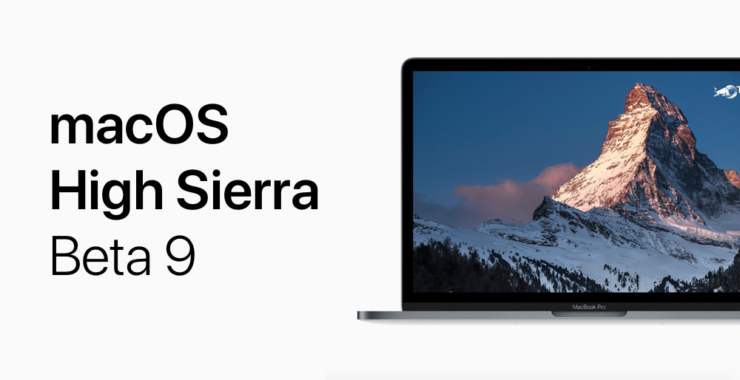 macOS high Sierra beta 9