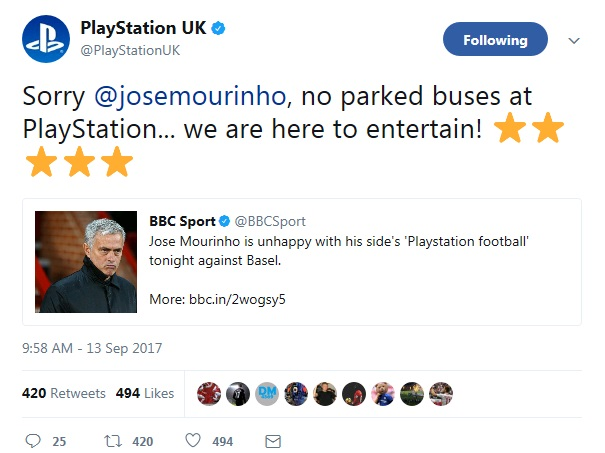 mourinho playstation football sony uk