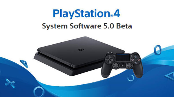 new PlayStation 4 firmware update 5.0 beta
