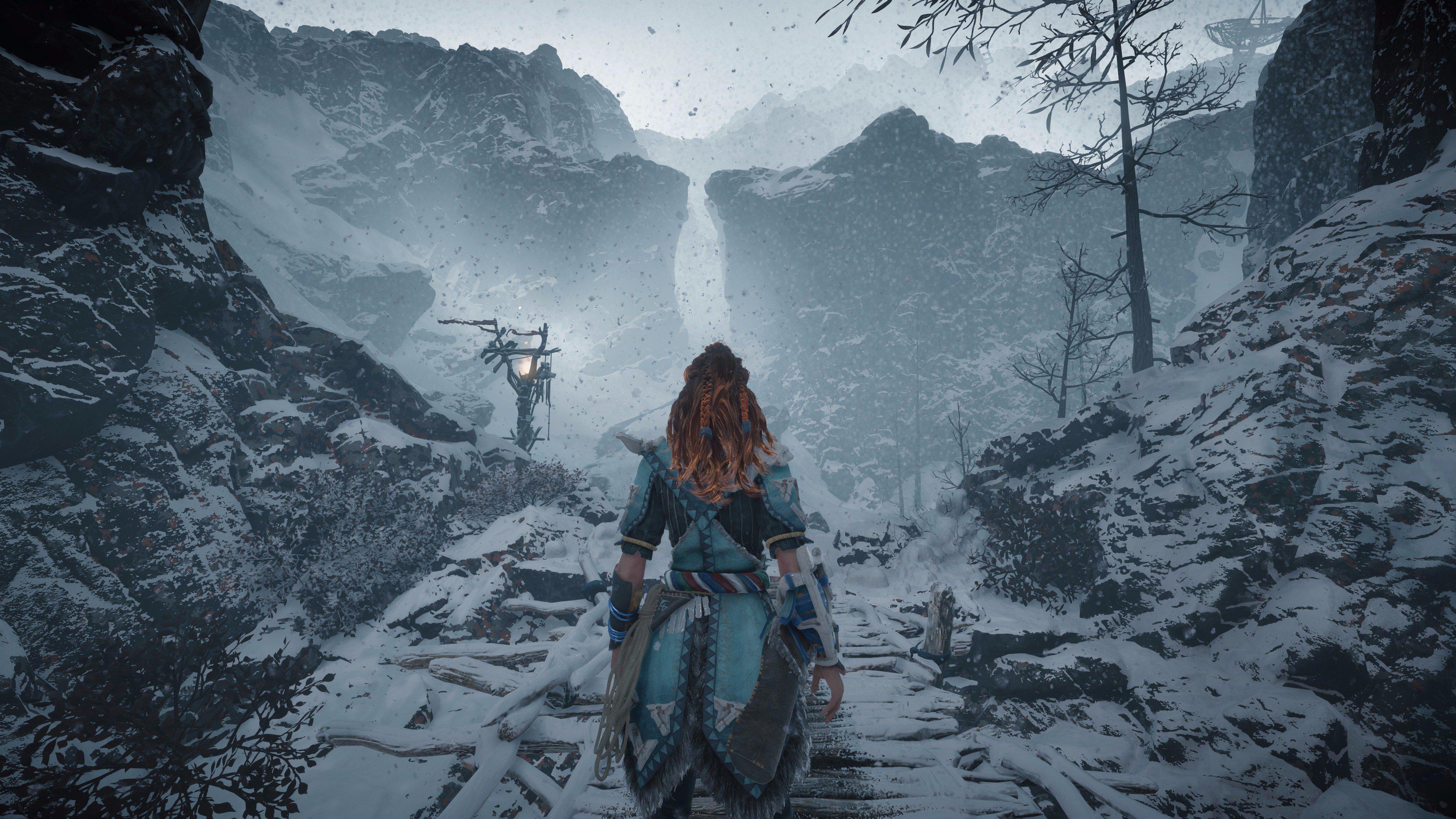 Risultati immagini per horizon zero dawn frozen wilds art