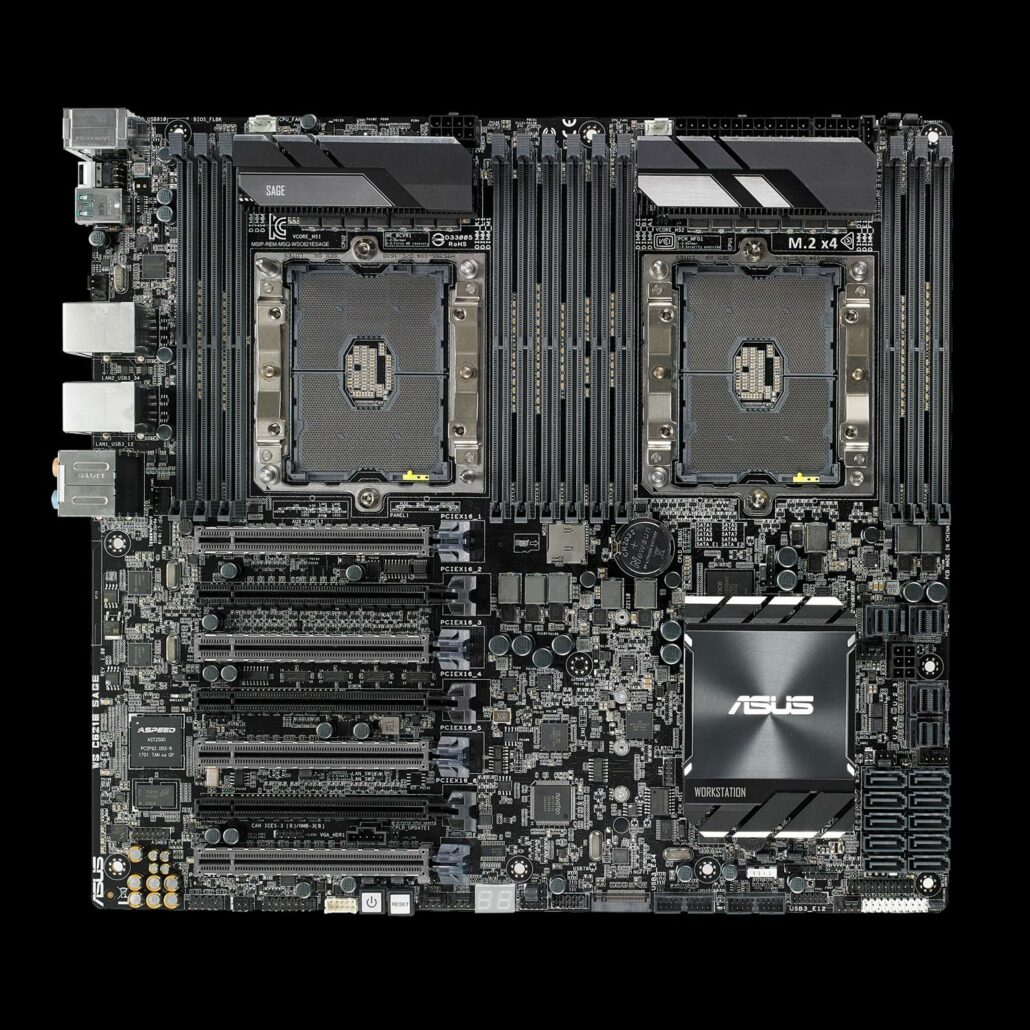 ASUS has launched their flagship Xeon workstation motherboard, the WS C621E SAGE.