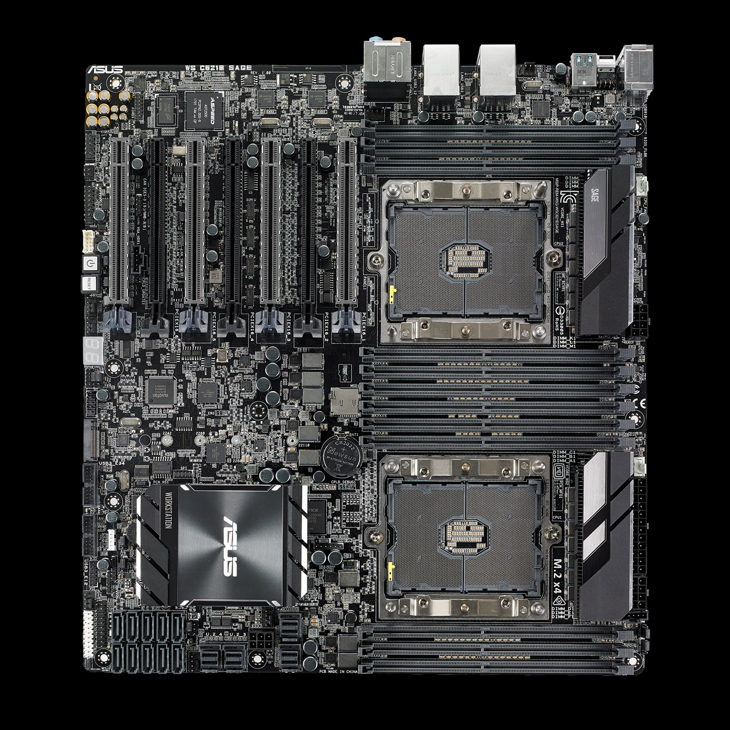 ASUS Intros WS C621E SAGE Motherboard With Dual Xeon CPU Support