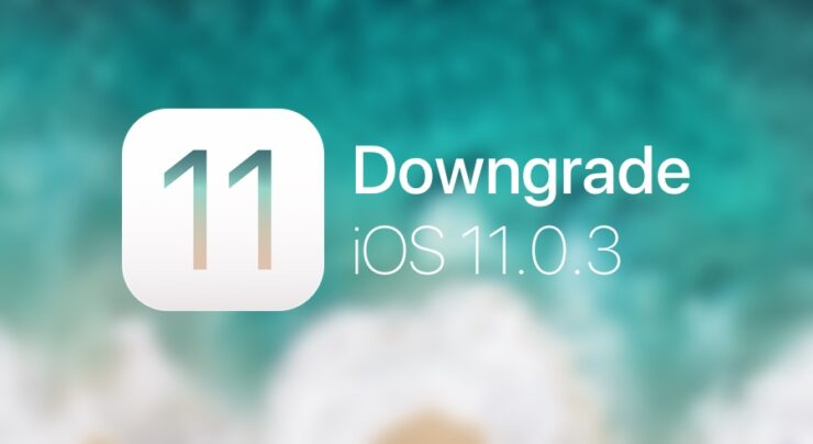 Downgrade iOS 11.0.3