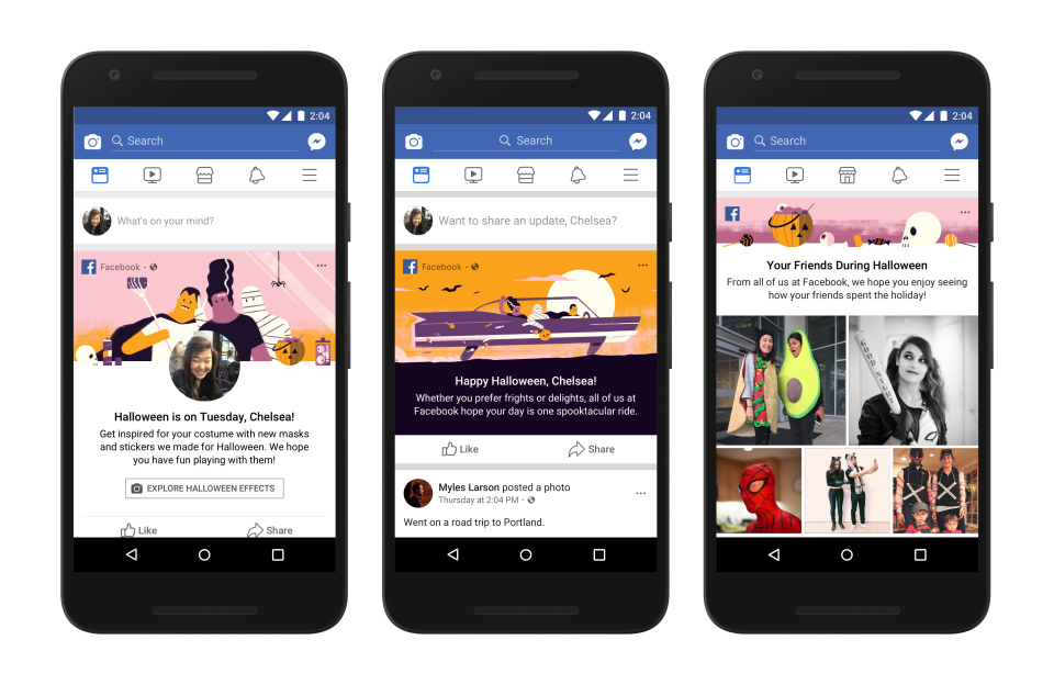Facebook Adds New Halloween Camera Effects And Games, Instagram ...