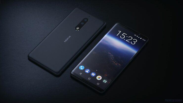 Nokia 9 curved edge to edge image leaked
