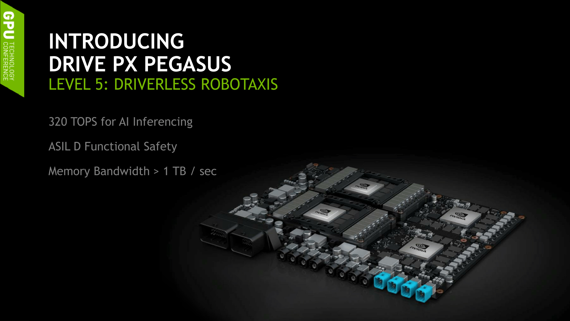 Nvidia Unveils The Drive Px Pegasus First Board