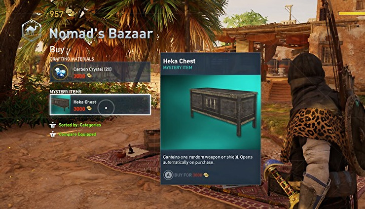 Assassin's Creed Origins Loot Boxes Can't Be Bought With