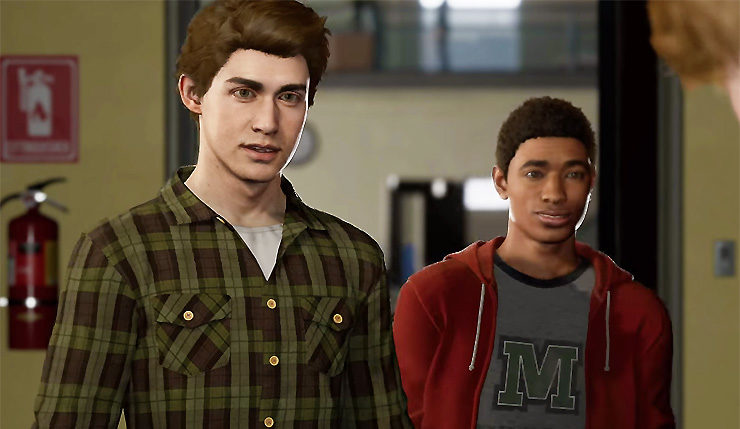 spider man devs clarify miles morales isn t in the suit provide new