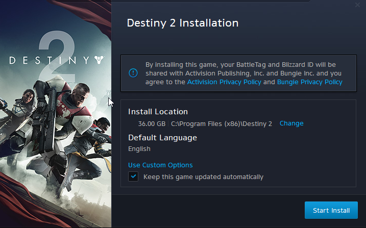 destiny 2 pc preload now live download size is 36gb and 68gb once installed. Black Bedroom Furniture Sets. Home Design Ideas