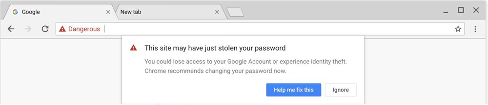 google safe browsing chrome phishing