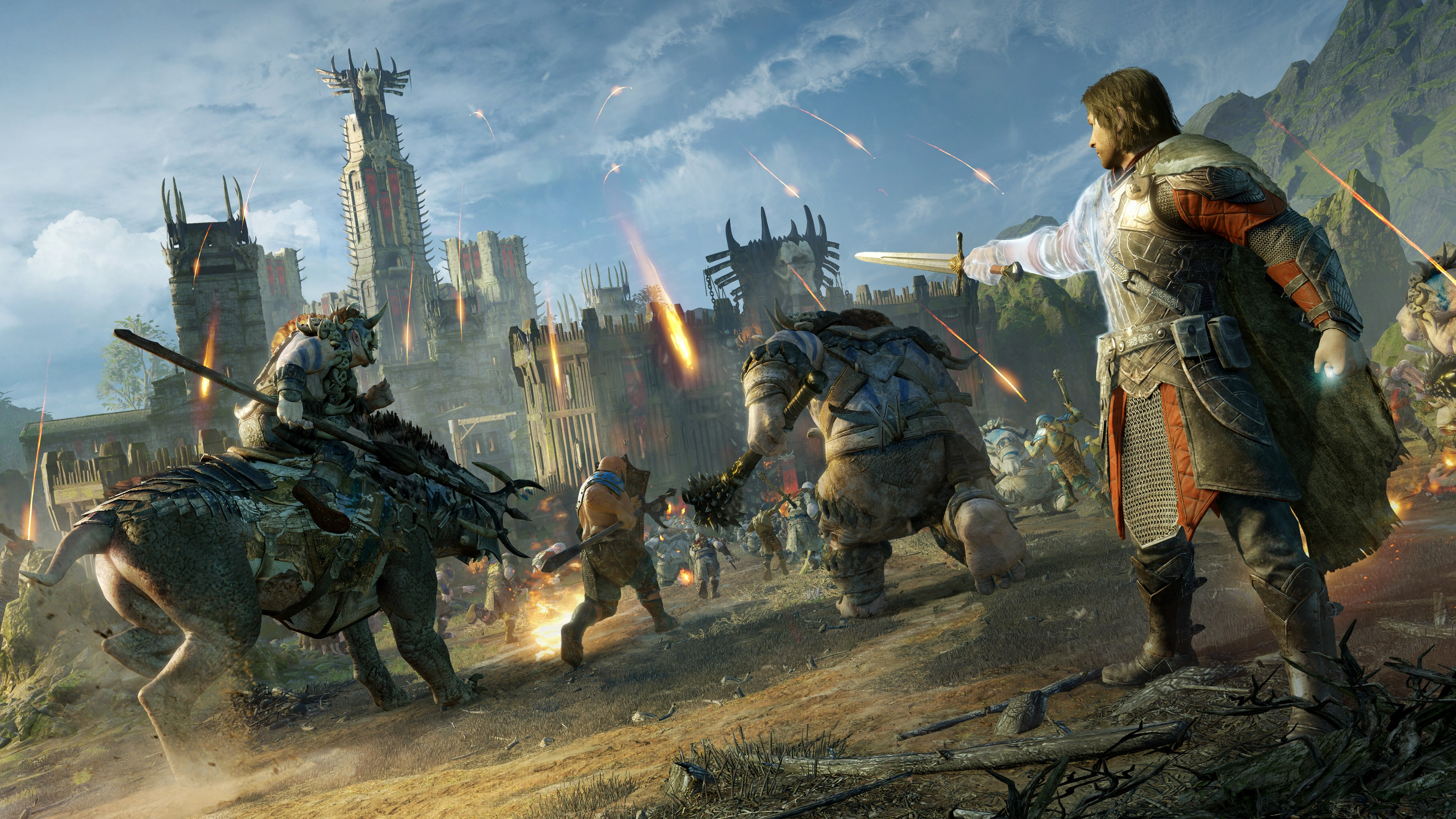 Middle,earth Shadow of War Xbox One X vs PS4 Pro Comparison