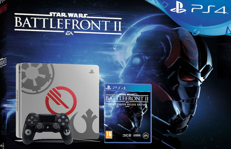 new playstation 4 pro ps4 star wars battlefront ii bundles announced by sony. Black Bedroom Furniture Sets. Home Design Ideas