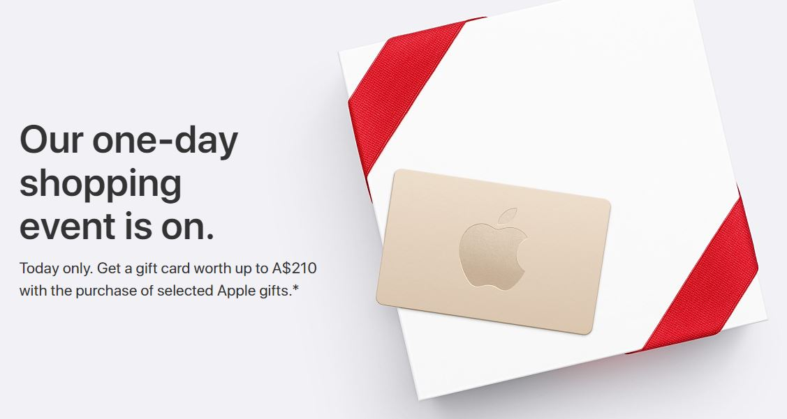 Apple S Black Friday Shopping Event Is Now Live In Australia And New Zealand Offering 210 Worth Of Gift Cards