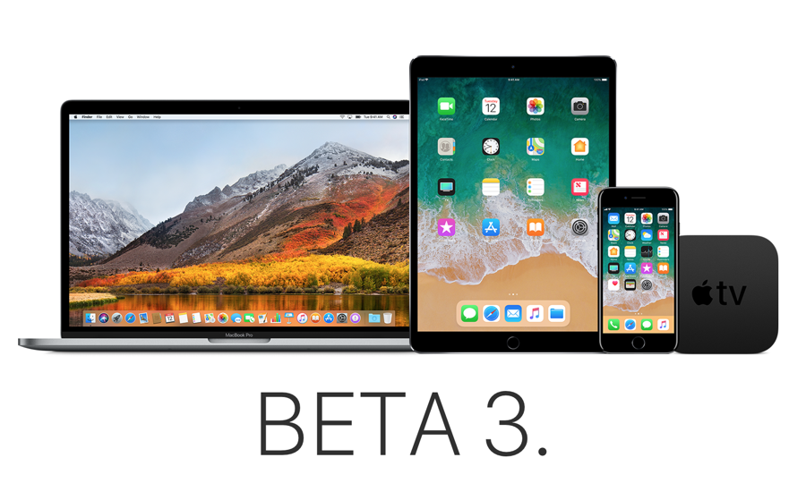 Beta 3 of iOS 11.2, macOS 10.3.2, watchOS 4.2, tvOS 11.2 ...