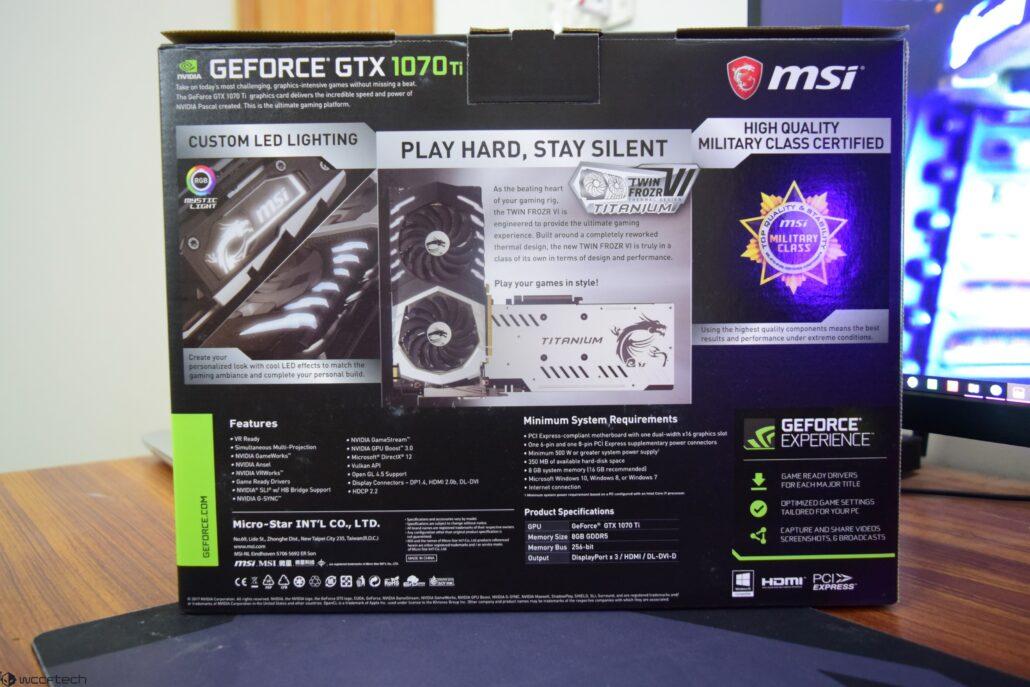 MSI GeForce GTX 1070 Ti Titanium 8 GB Review – Twin Frozr VI Now In