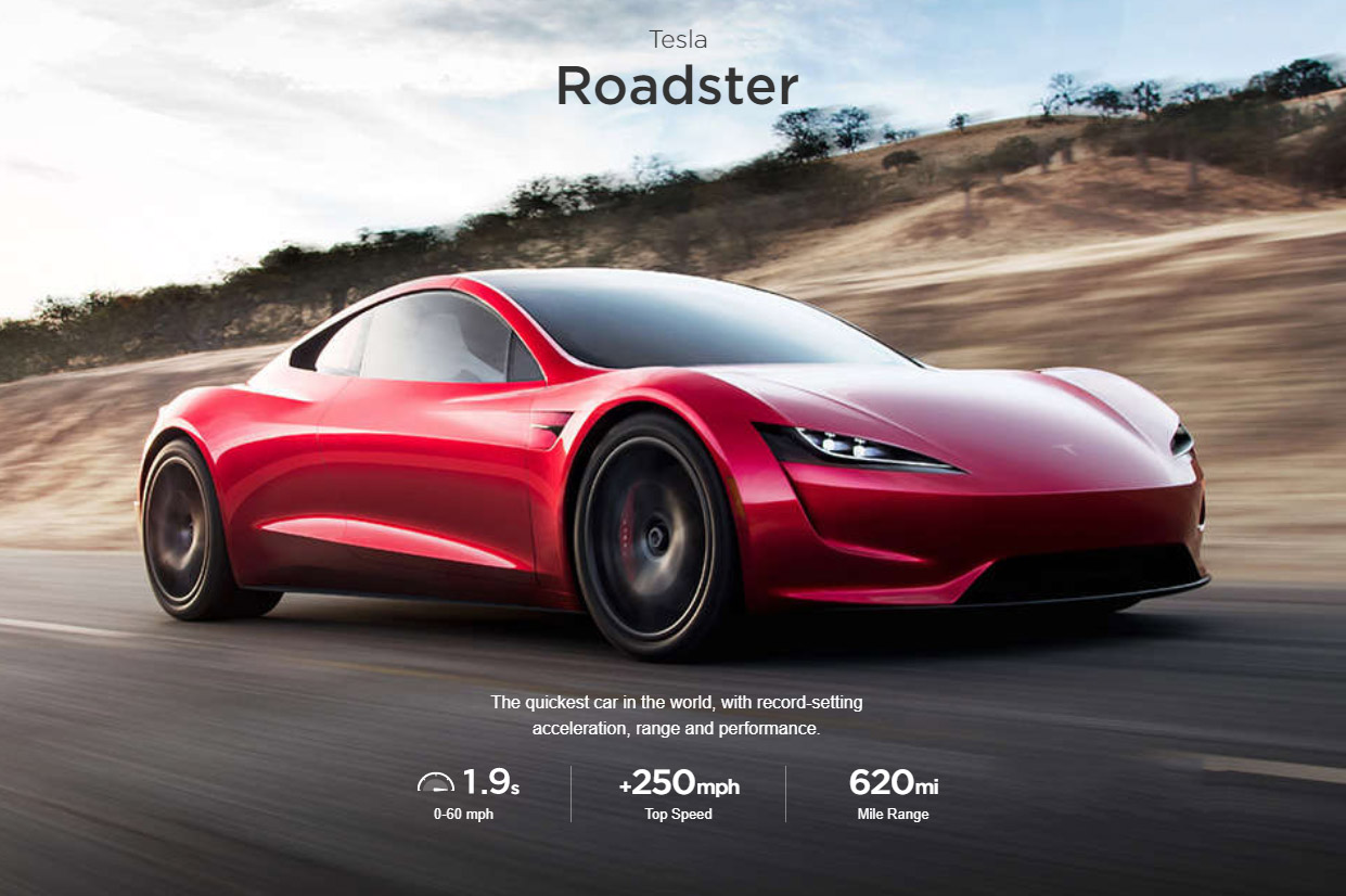 tesla has a second generation roadster that can go from 0 100mph in just over 4 seconds. Black Bedroom Furniture Sets. Home Design Ideas