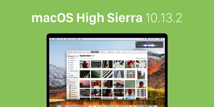 macOS high Sierra 10.13.2