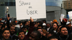 new-york-uber-drivers-protest-rate-cuts