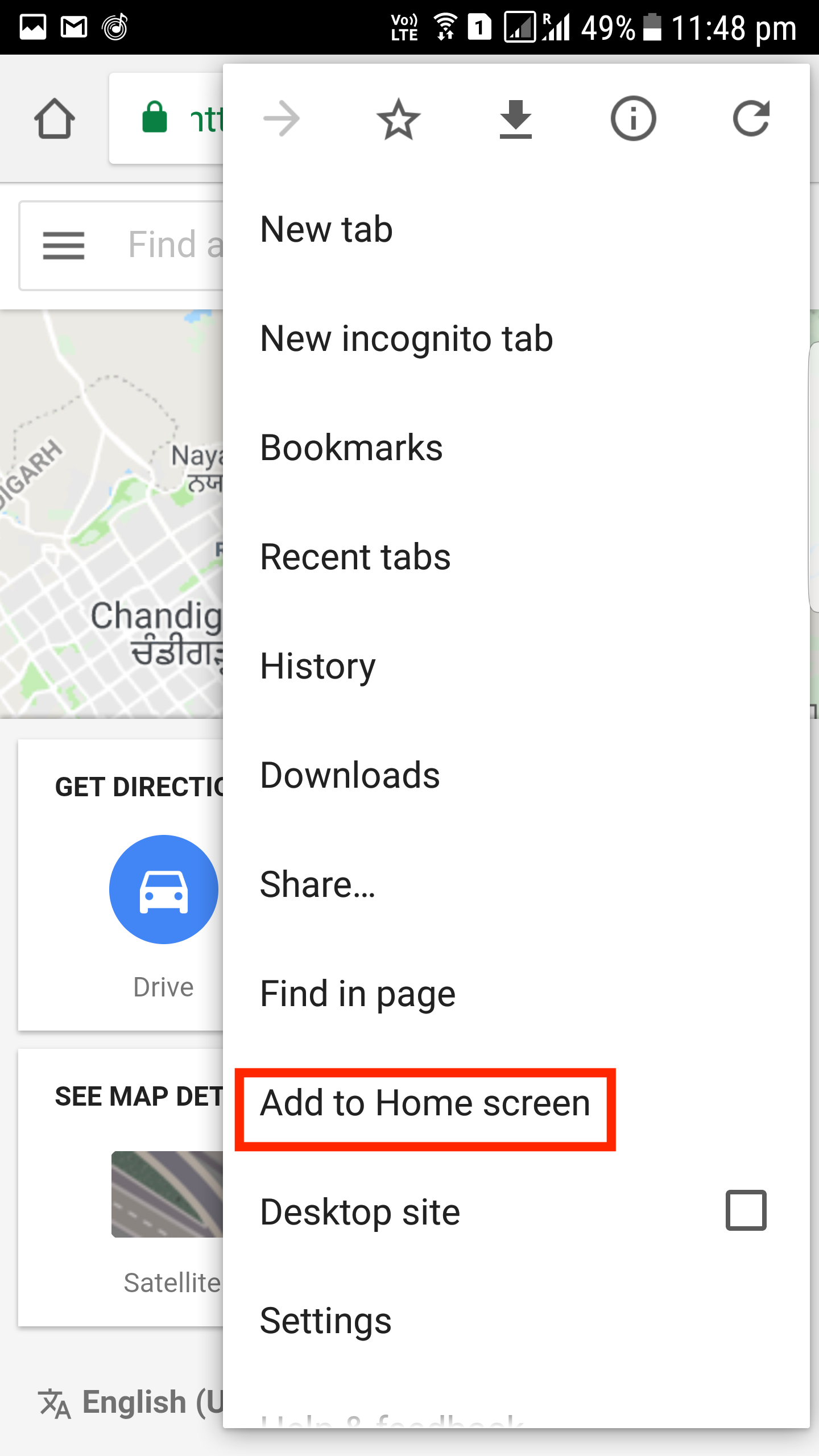 "here's how you can use lightweight google maps go app right now - check your home screen you will find the shortcut to the pwa named as ""mapsgo"""