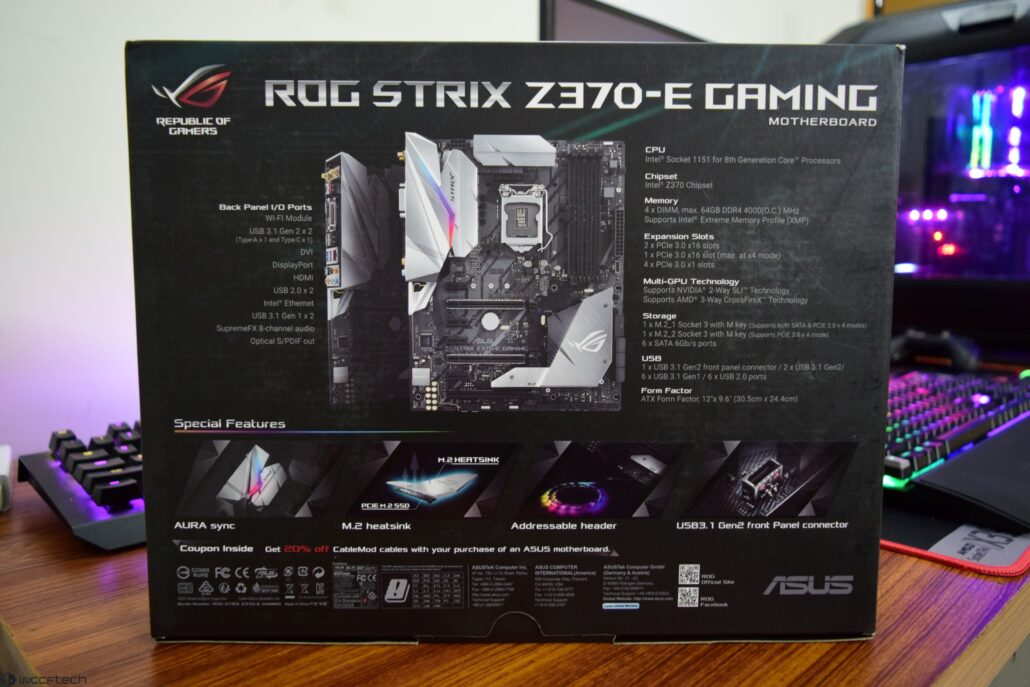 ASUS Maximus X Hero and ASUS STRIX Z370E LGA 1151 Motherboard Review