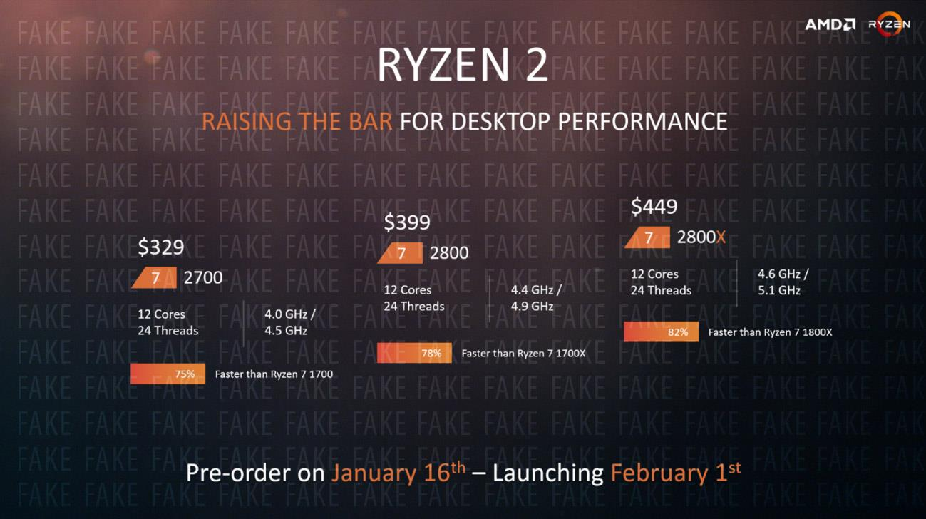 fake amd ryzen 2800x 12 core 5 1ghz slide sends media into frenzy
